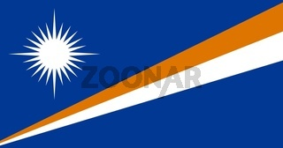 The national flag of Marshall Islands