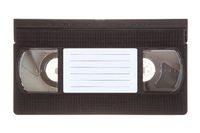 Video cassette isolated on white background