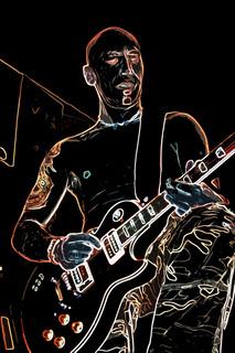 Cooler Gitarren Spieler