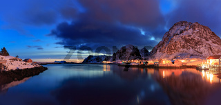 Sorvagen village on Lofoten Islands