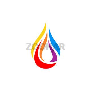 fire flame hot modern logo symbol icon vector design