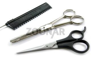 barber comb scissors