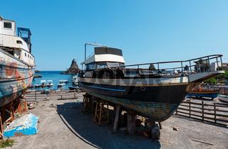 Aci Trezza Marina dei Ciclopi boats harbor, Sicily