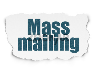 Advertising concept: Mass Mailing on Torn Paper background