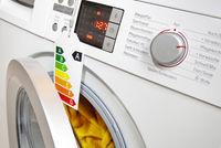 Modern washing machine with eco-label