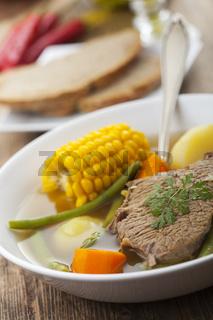 Calzuela eine lateinamerikanische Suppe