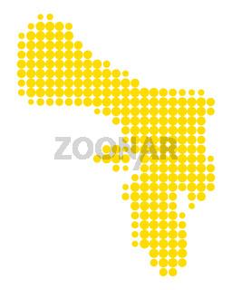 Karte von Bonaire - Map of Bonaire