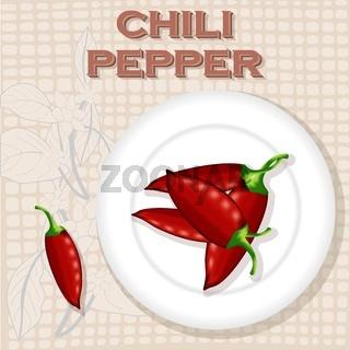 Vintage label for Chili Pepper