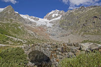 Stone bridge in the Val Veny