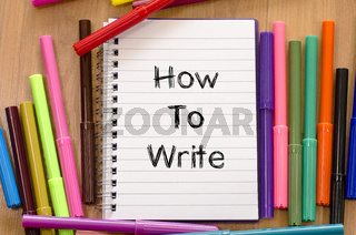 How to write text concept