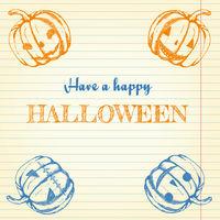 Halloween doodle - pumpkins