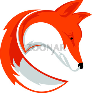 logo fox with tail