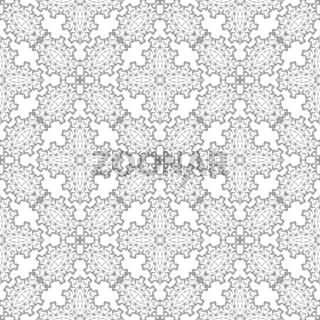 Grey Ornamental Seamless Pattern. Endless Texture. Oriental Geometric Ornament