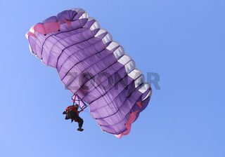 Purple parachute