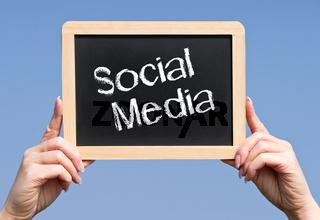 Social Media Kreide Tafel