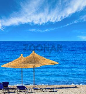 Summer morning beach (Albania).