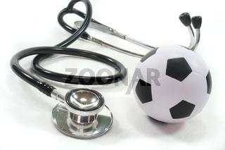 Stethoskop mit Fußball