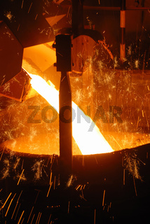 smelting of the metal in the metallurgical plant