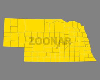 Karte von Nebraska - Map of Nebraska