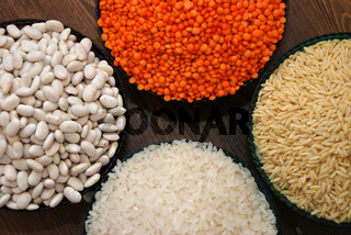 Cereals and pulses.