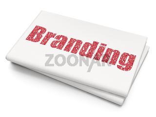 Advertising concept: Branding on Blank Newspaper background