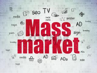 Advertising concept: Mass Market on Digital Data Paper background