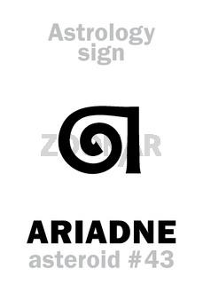 Astrology: asteroid ARIADNE