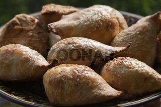 Uzbek traditional pastry samsa