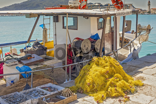 Fishing Boat In The harbour Zakinthos Greece