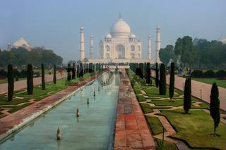 Taj Mahal in early morning for, Agra, Uttar Pradesh, India