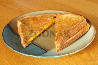 A Grilled Cheese Sandwich on a Plate