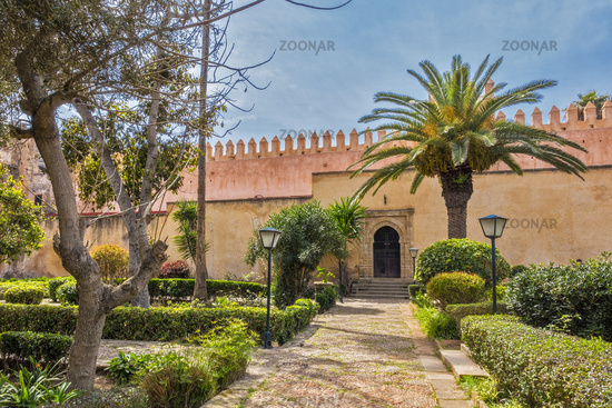 The Garden Of The Kasbah of Oudayas Rabat Morocco