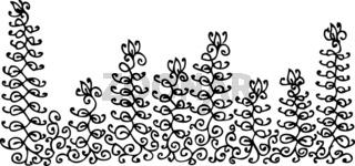 Refined Floral vignette XLIX