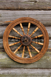 Spinning Wheel On The Blockhouse Wall