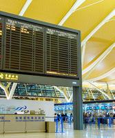 Departure hall at Shanghai airport
