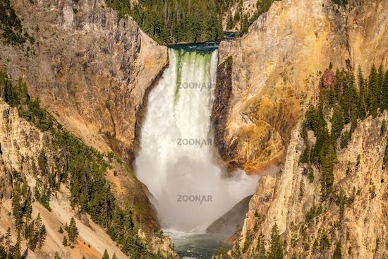 Lower Falls waterfall in Grand Canyon of Yellowstone