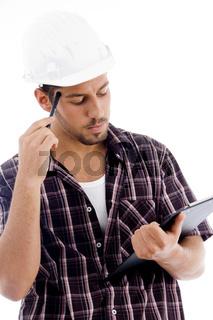 engineer analyzing report
