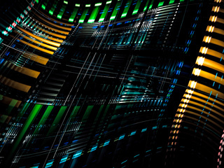 Tech banner - abstract digitally generated image