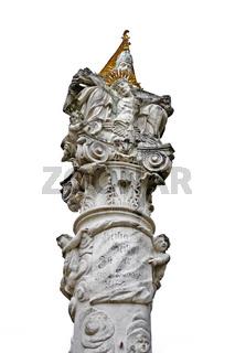 Dreifaltigkeitssäule Gars, Waldviertel, Niederösterreich, Österreich, Europa / Holy Trinity column in Gars, Waldviertel Region, Lower Austria, Austria, Europe