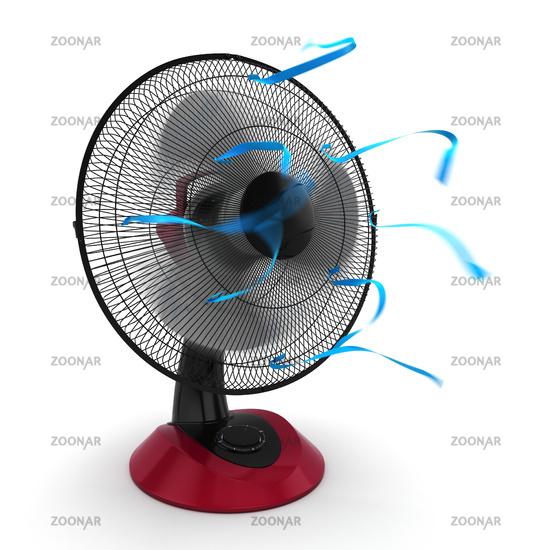 3D rendering fan