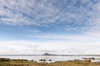 Iceland, view from Vikurnes to Lake Mývatn