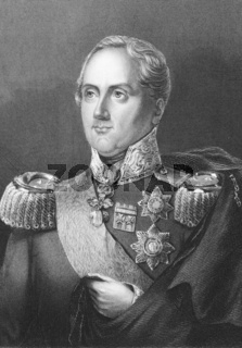 Frederick Augustus I of Saxony (1750-1827) on engraving from the 1800s. King of Saxony during 1805-1827. Engraved by A.H. Payne from a picture by H.Albert and published in London by Brian & Payne.