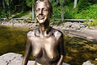 Mummelsee mit der Seejungfrau im Schwarzwald