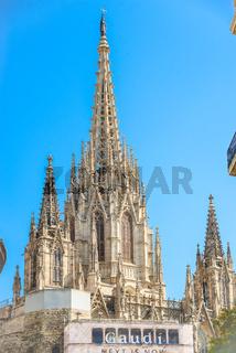 Steeple of La Catedral de la Santa Creu i Santa Eulàlia, Barcelona