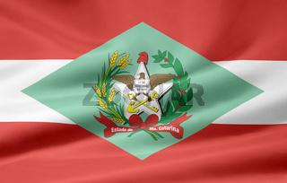 Flagge von Santa Catarina - Brasilien