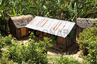 African malagasy huts in Andasibe region