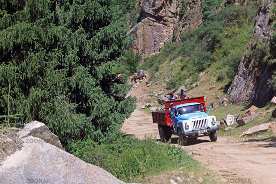 Grigorievka gorge, Kungei Alatoo Mountains, Kyrgyzstan