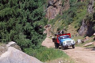 Grigorievka-Schlucht im Kungei-Alatoo-Gebirge, Yssykköl, Kirgisistan