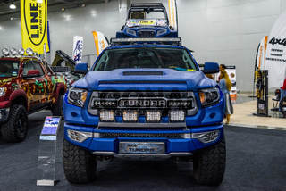 MOSCOW - AUG 2016: Toyota Tundra 4x4 presented at MIAS Moscow International Automobile Salon on August 20, 2016 in Moscow, Russia