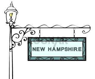 New Hampshire retro pointer lamppost.